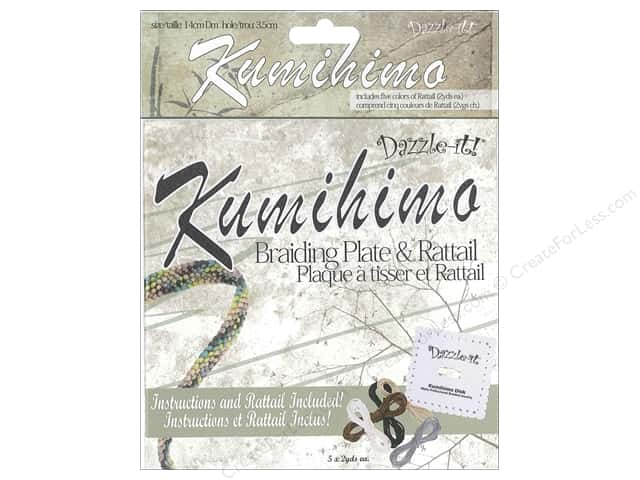 Dazzle It Kumihimo Braiding Disk & RattailSquare 5.5""