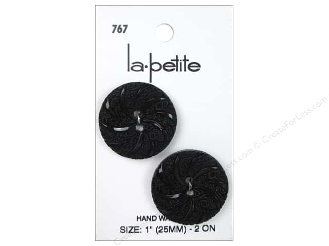 LaPetite 2 Hole Buttons 1 in. Black #767 2 pc.