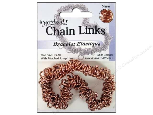 Dazzle It Bracelet Chain Link Elastic Copper