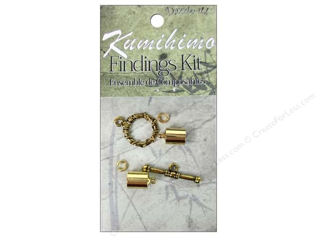 Dazzle It Kumihimo Finding Kit 7mm Gold