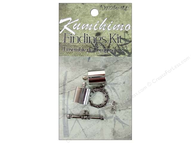 Dazzle It Kumihimo Finding Kit 10mm Silver