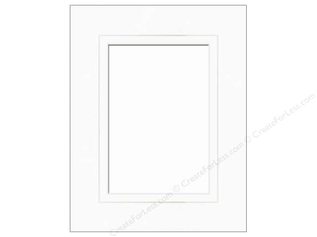 Accent Design Framing Mat Double  8 x 10 in./5 x 7 in. White Core White/White