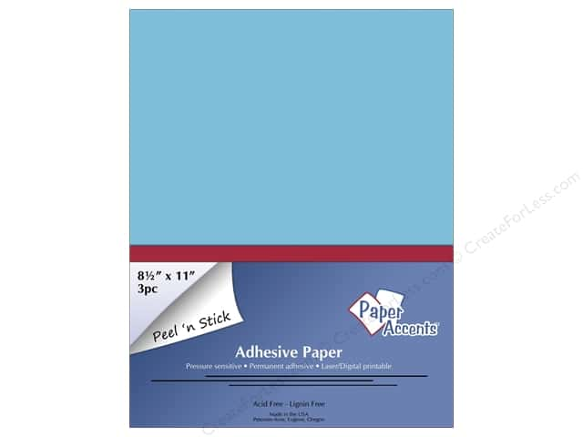Adhesive Paper by Paper Accents 8 1/2 x 11 in. Blue 3 pc.