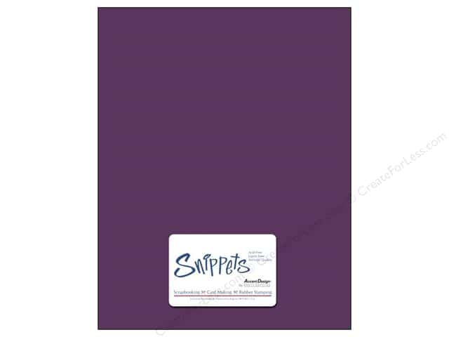 Cardstock 8 1/2 x 11 in. #154 Smooth Boysenberry by Paper Accents 5pc.