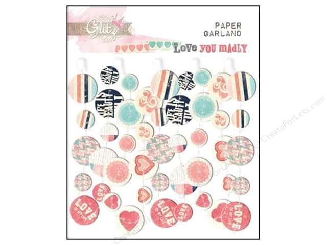 Glitz Design Garland Paper Love You Madly