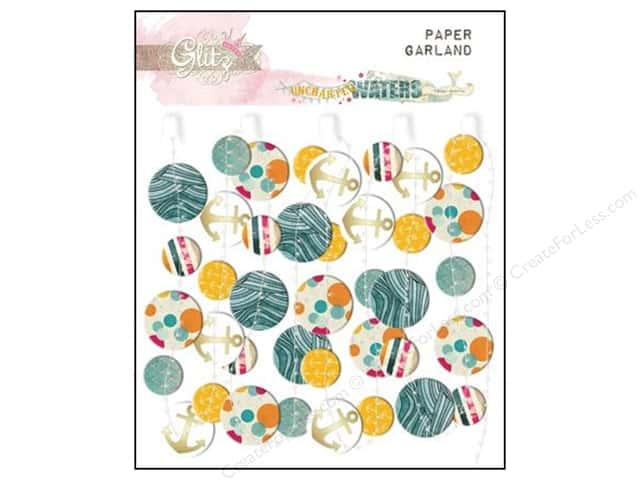 Glitz Design Embellishment Garland Paper Uncharted Waters