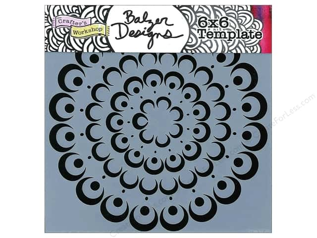 The Crafter's Workshop Template 6 x 6 in. Bubble Doily