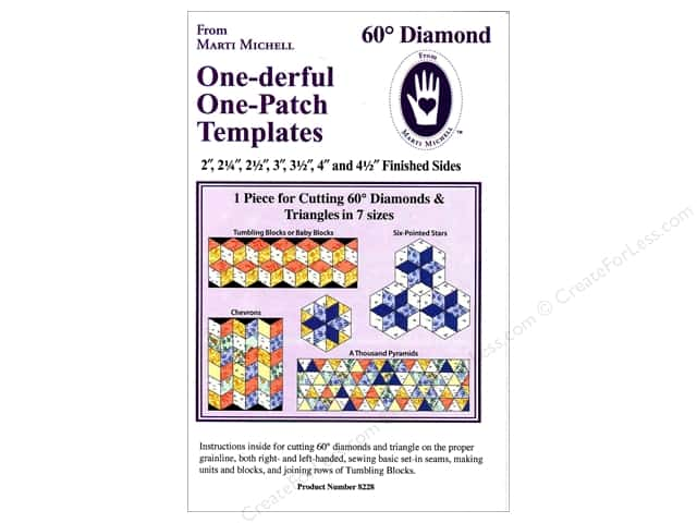 Marti Michell One-derful One-Patch Templates 60 deg. Diamond