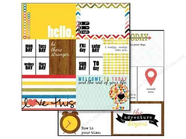 Glitz Design 12 x 12 in. Paper Color Me Happy Bits & Pieces (25 sheets)