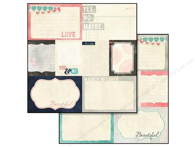 Glitz Design 12 x 12 in. Paper Love You Madly Bits & Pieces (25 sheets)