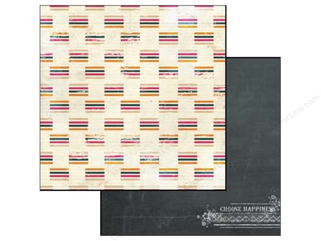 Glitz Design 12 x 12 in. Paper Uncharted Waters Stripe (25 sheets)