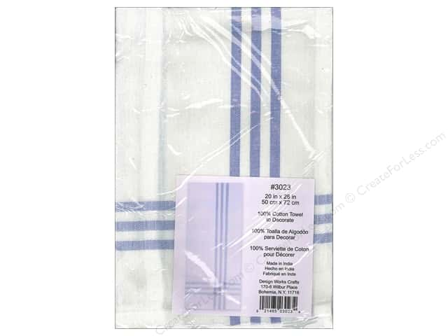 Design Works Embroidery Towel Striped Blue