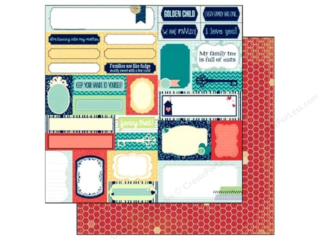 Bo Bunny 12 x 12 in. Paper Family Is  Silly (25 sheets)