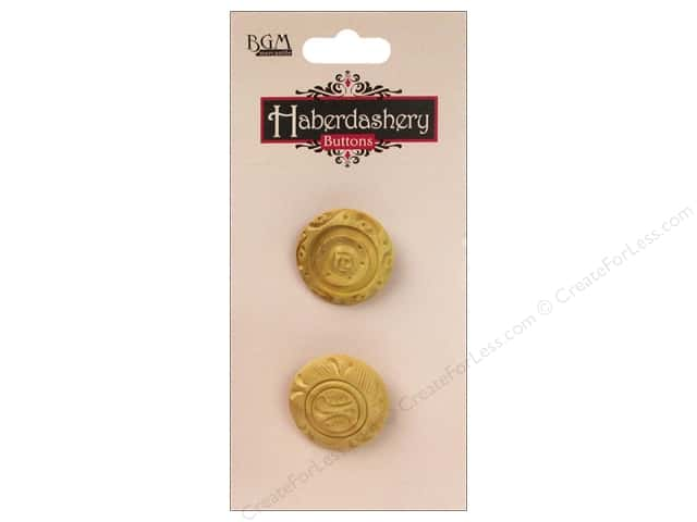 Buttons Galore Haberdashery Carved Button #11 Light 2 pc.