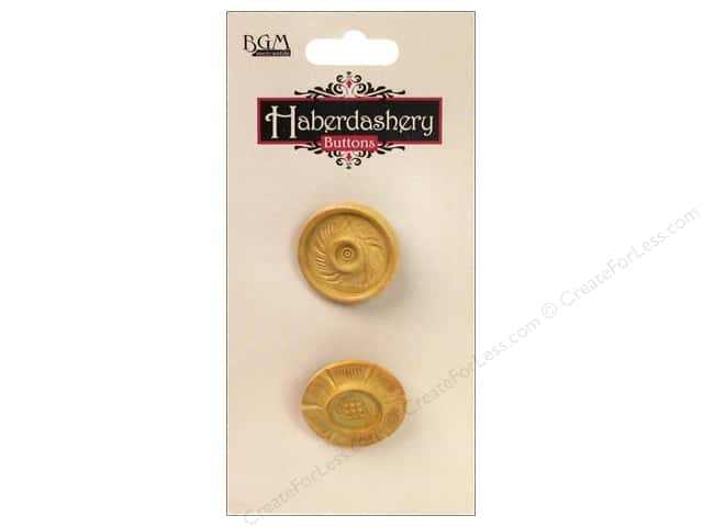 Buttons Galore Haberdashery Carved Button #12 Light 2 pc.