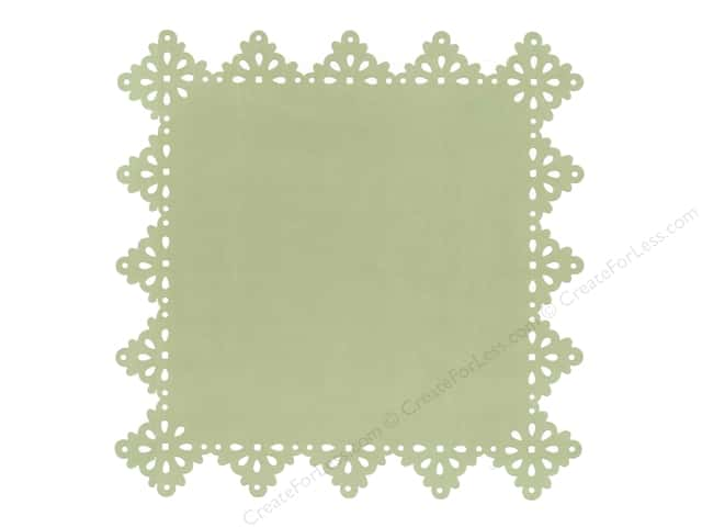 Anna Griffin Paper 12 x 12 in. Olivia Die Cut Layer Green (25 sheets)