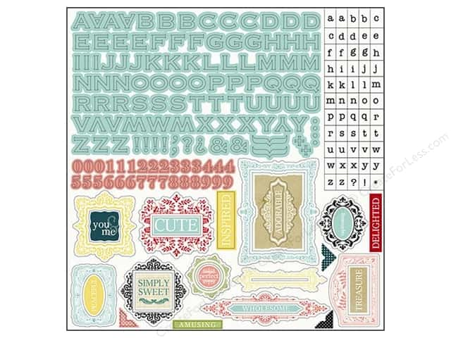 Carta Bella Alphabet Stickers So Noted (15 sets)