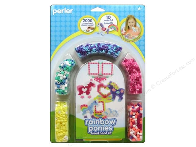 Perler Fused Bead Kit Rainbow Pony Frames 2000pc