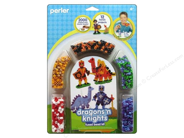 Perler Fused Bead Kit Dragons N Knights 2000pc