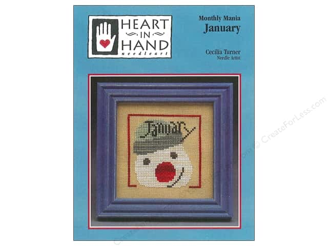 Heart In Hand Monthly Mania January Pattern by Cecila Turner
