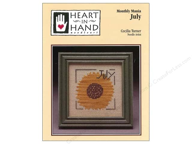 Heart In Hand Monthly Mania July Pattern by Cecilia Turner