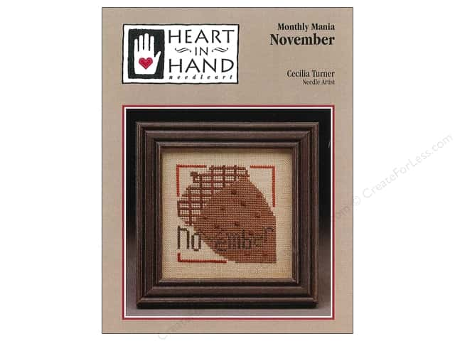 Heart In Hand Monthly Mania November Pattern by Cecila Turner