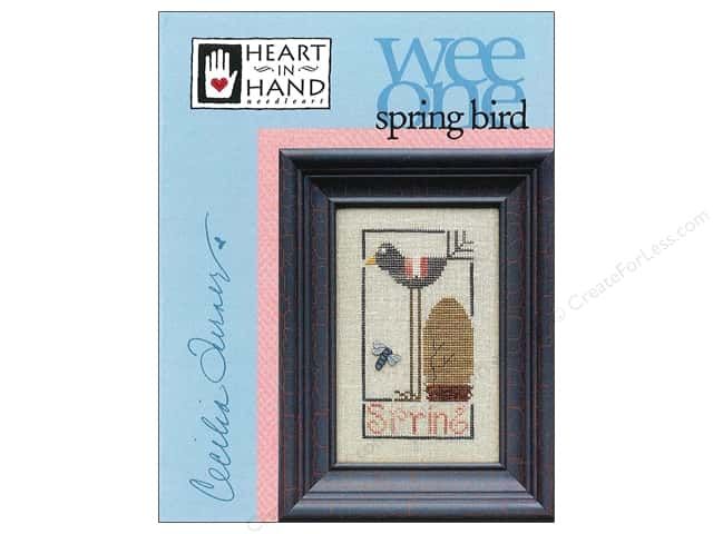 Heart In Hand Wee One Bird Spring Pattern by Cecilia Turner