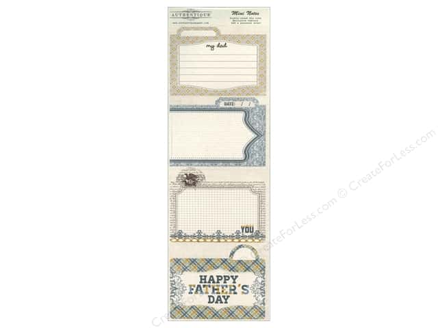 Authentique Die Cut Strong Collection Mini Notes (12 sets)