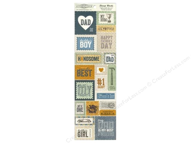Authentique Die Cuts Strong Stamp Blocks (12 sets)