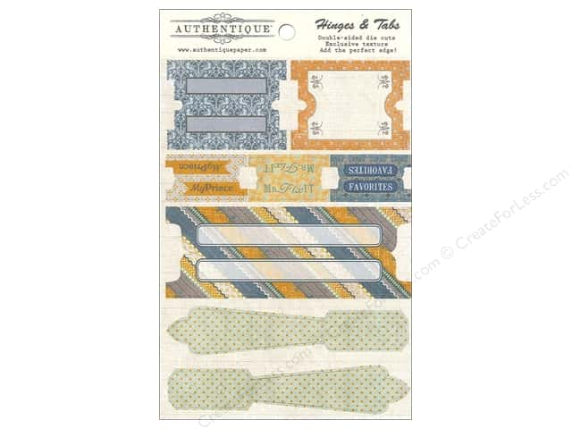 Authentique Die Cuts Strong Hinges And Tabs (12 sets)