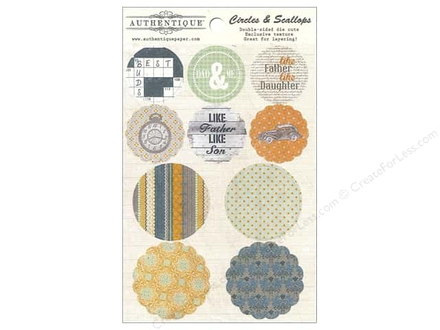 Authentique Die Cuts Strong Circles & Scallops (12 sets)