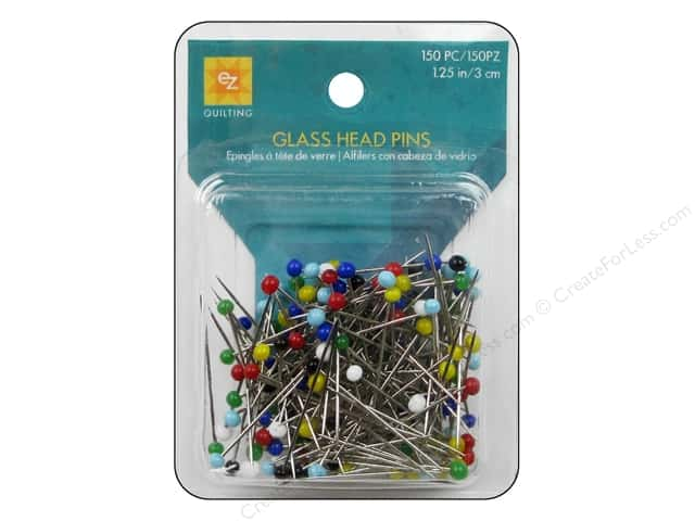 EZ Quilting Glass Head Pins 1 1/4 in. 150 pc