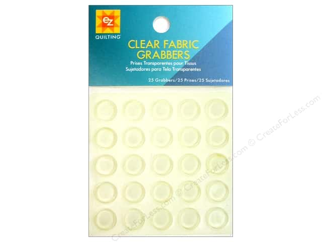 EZ Quilting Fabric Grabbers 25 pc. Clear