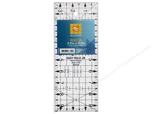 EZ Quilting Easy Rule Jr. Acrylic Ruler 9 1/2 x 3 1/2 in.