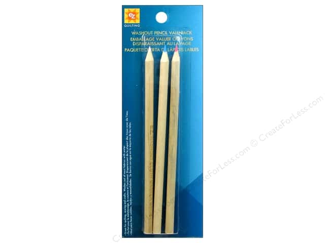 EZ Quilting Marking Pencil Value Pack 3 pc. Washout Red, Blue & White