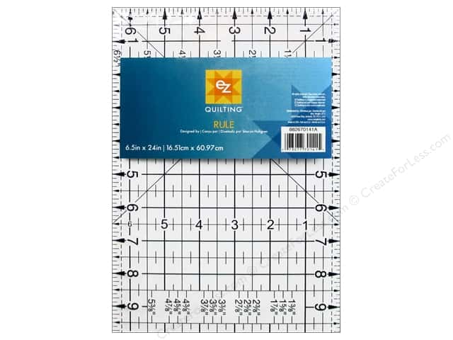 EZ Quilting Easy Rule II Acrylic Ruler 6 1/2  x 24 in.