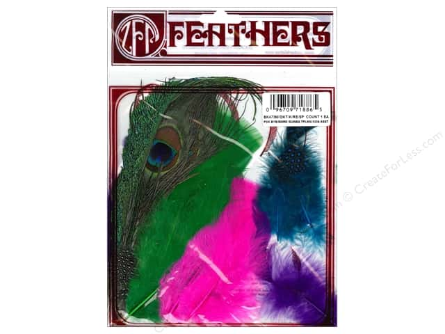 Zucker Feather Mix Peacock Eye, Sword, Guinea & Hackle Feathers