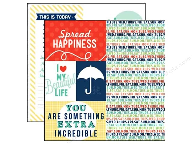Echo Park 12 x 12 in. Paper Happy Go Lucky Collection Spread Happiness (15 sheets)