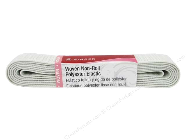 Singer Flat Non-Roll Elastic White 1 in. x 2.5 yd.