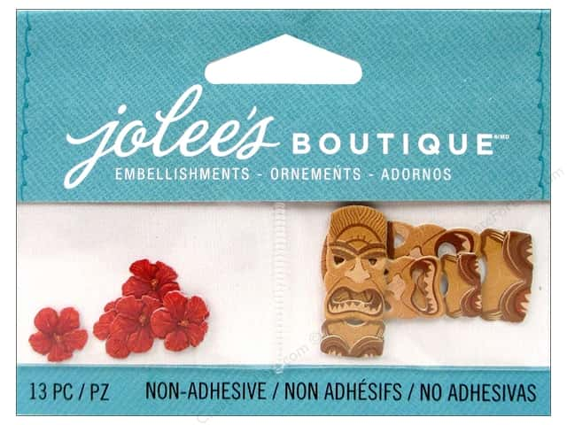 EK Jolee's Boutique Embellishment Tiki Masks And Flowers