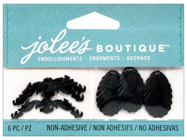Jolee's Boutique Embellishments Black Antique Shell and Flourish