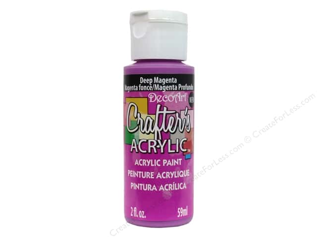 DecoArt Crafter's Acrylic Paint 2 oz. #135 Deep Magenta