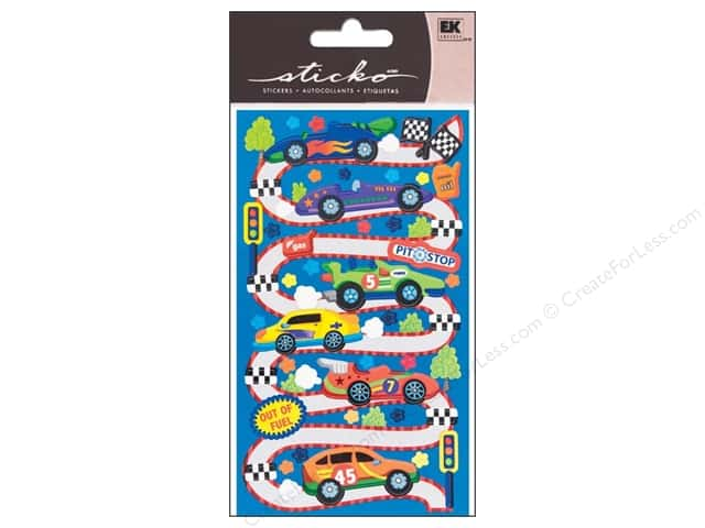 EK Sticko Stickers Race Car Rama