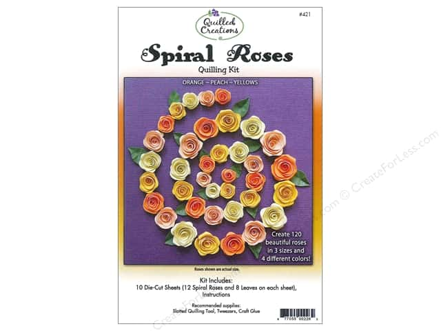 Quilled Creations Quilling Kit Spiral Roses Orange, Peach, Yellows