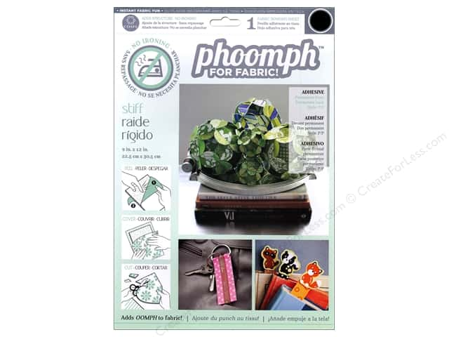Phoomph For Fabric Stiff 9 x 12 in. Black by Coats & Clark