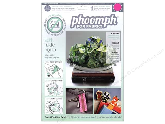 Phoomph For Fabric Stiff 9 x 12 in. Fuchsia by Coats & Clark