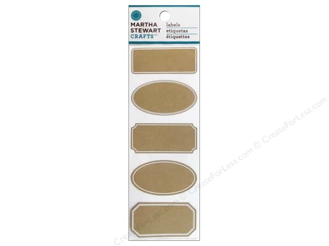 Martha Stewart Sticker Classic Kraft Labels