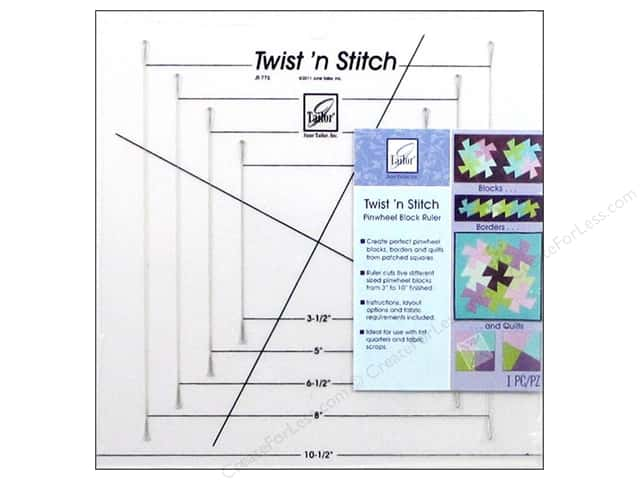 June Tailor Quilting Twist N Stitch Pinwheel Block Ruler