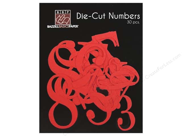 Bazzill Die-Cut Numbers 30 pc. Fire Hearts