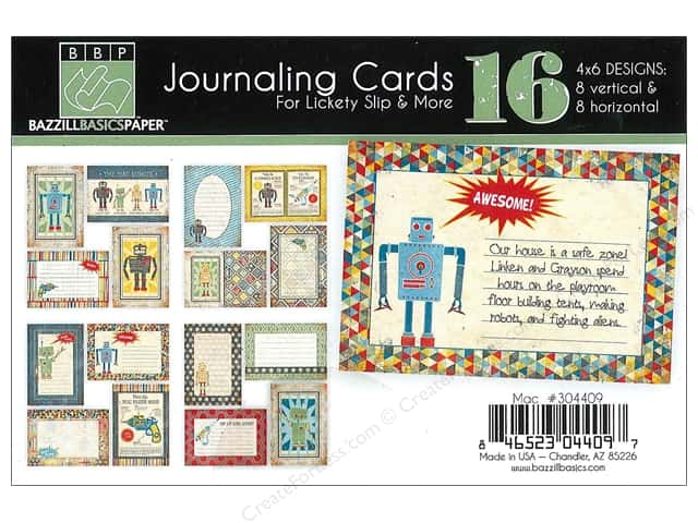 Bazzill Lickety Slip Journaling Cards 4 x 6 in. MAC 16 pc.
